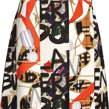 Graffiti Mini Skirt by Burberry