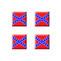 Rebel Confederate Flag - Set of 3D Stickers