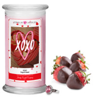 XOXO (Hugs & Kisses!) Valentine's Day Jewelry Greeting Candles
