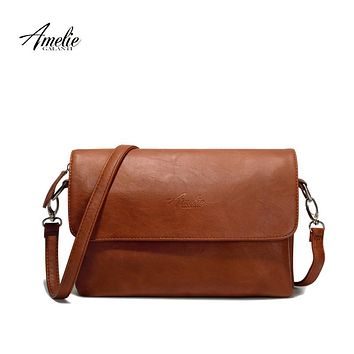 AMELIE GALANTI small cognac crossbody bags for women casual shoulder purses and handbags  for ladies multifunctional stylish
