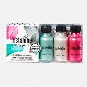 Justice Justshine Body Paint Kit with Temporary Tattoos