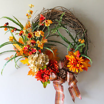 Sale- Fall Wreath, Autumn Wreath, Fall Decor
