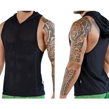 Clever 7029 Aster Hooded Tank Top Color Black