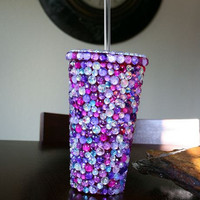 Purple/Pink Bling Tumbler