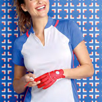 EP New York Ladies Cap Sleeve Golf Shirts - Beyond Blue (Navy Multi)