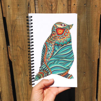 Ethnic Penguin | Spiral Notebook | Sketchbook | Agenda