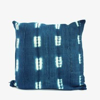 Vintage Mudcloth Pillowcase - Indigo