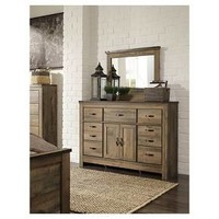 Trinell Dresser with Fireplace Option Brown - Signature Design by Ashley