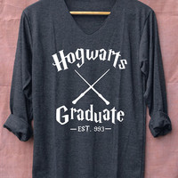 Hogwarts Graduate Harry Potter Shirts Black Long Sleeve Unisex Adults Size S M L XL
