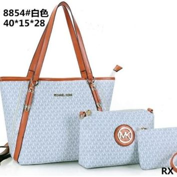 MK PURSE WOMEN HANDBAG TOTE+WALLET SHOULDER BAG MK8854