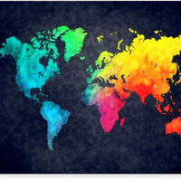 world map watercolor 6 by JBJart