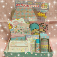 Little Twin Stars Box Darling Box Kawaii Box Cute Box Stationery Set Surprise Box Kikilala Planner Mystery Box Grab Bag