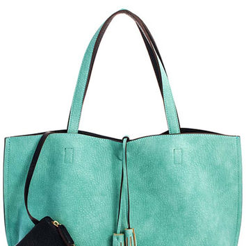 Street Level Reversible Tassel Tote with Coin Purse