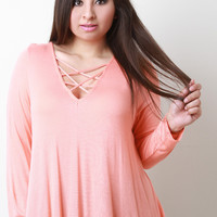 Strappy V-Neck Trapeze Top