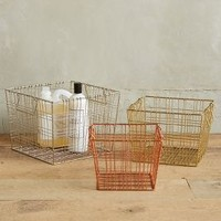 Forged Wire Baskets by Anthropologie in Mixed Size: Set Of 3 Office