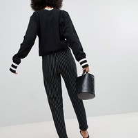 Pieces Stripe Cigarette Pants at asos.com