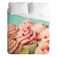 Allyson Johnson Strawberry Cupcakes Photograph Duvet Cover
