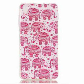 Best Quality Pink Elephant Case Cover for iPhone 7 se 6 6s Plus Gift