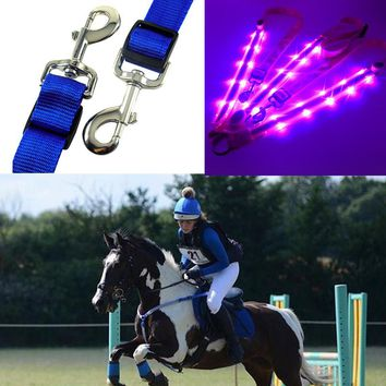 Dual LED Horse Harness Horse Breast Collar