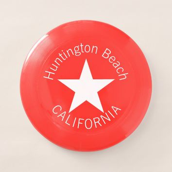 Huntington Beach CALIFORNIA funny customizable Wham-O Frisbee