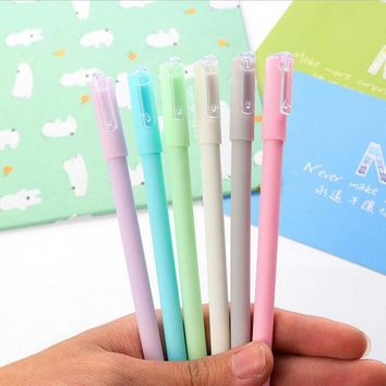DCCKL72 0.5mm Black Korean Japanese Cute Kawaii Boot Candy Color Gel Ink Pens Writing Office School Supplies For Kids Girls Stationery