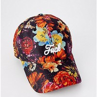 Floral Fuck Dad Hat - Spencer's