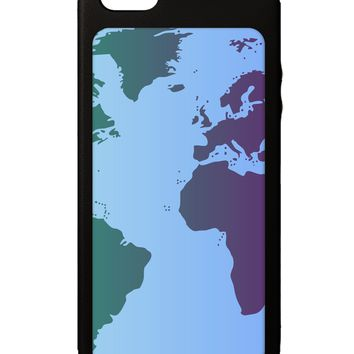 Cool World Map Design iPhone 5C Grip Case  All Over Print by TooLoud