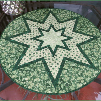 St Patrick's Day Quilted Table Topper Quilt 676
