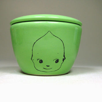 lidded bowl kewpie cabeza - Made to Order/ Pick Your Colour