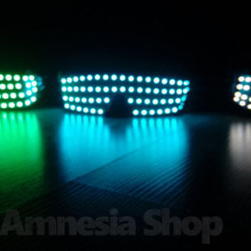 Led Glasses Handmade Light Up Glasses Glow In The Dark Glasses Light Rave EDM Festival Gear Party Club Disco Night Club Masquerade Glow