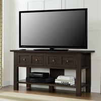 Classic 55-inch TV Stand Accent Console Table with 2 Storage Drawers