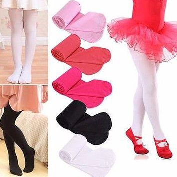 Dancing stockings Baby Kids Girls Tights Soft Velvet Ballet Dancewear Tights Pantyhose 4-9Y
