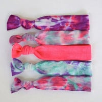Cute Tie Dye Hair Ties (The Mermaid Set)