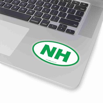 New Hampshire State Shape Sticker GREEN