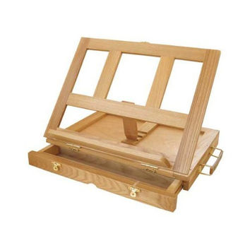 Art Alternatives Marquis Artists Adjustable Desk Box Easel Natural