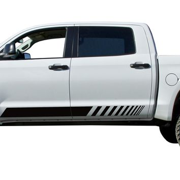 Truck Door stripe Kit Decals Vinyl Stickers Bedside Set: fits Toyota Tundra