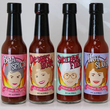 Golden Girls Hot Sauce 4-Pack Set