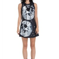 Jawbreaker Clothing Skull In the Moon Skater Dress | Attitude Clothing