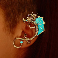 "DRAGON ear cuff clip ""GLOW in the DARK"