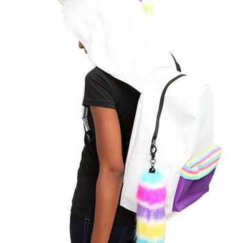 Unicorn Hooded Backpack - 134261