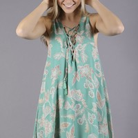 show me your mumu: rancho mirage lace up dress - jadely paisley