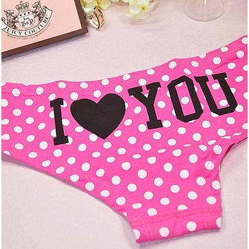 Charming Women Lace Briefs Lady Love Sexy Pink Heart Panties Women's Low Waist Intimates Leopard Underwear Free Shiping