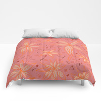 Floral 5 Comforters by NaturalColors