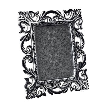 ANTIQUE WHITE SCROOL PICTURE FRAME