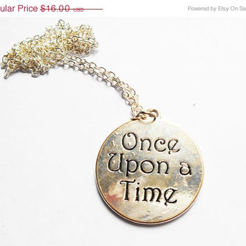 Silver Necklace, Once upon a time, Happily ever ater, fairytale pendant, fairytale necklace, ouat jewelry