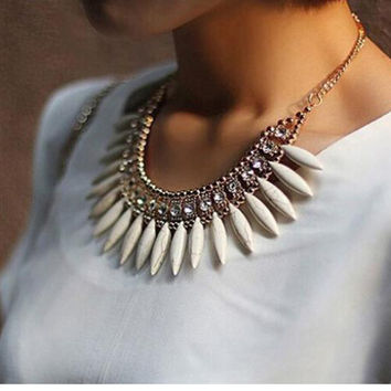Chunky Crystal Statement Necklace