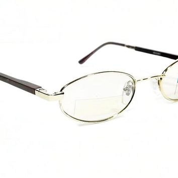 Vintage Style Glasses Round Wood Finish Frame Clear Lens Eyeglasses