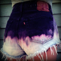 Vintage High Waisted Purple Ombre Levis 501s by TrueBlueDryGoods
