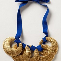 Gilded Crescent Bib Necklace