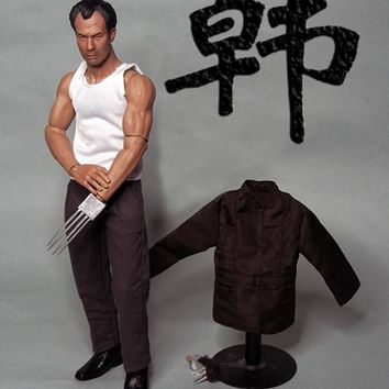Hot 1/6 Scale Shih Kien Clothing With Head Bruce Lee Opponent Mr. Han Shi Jian Hong Kong Actor Figure Accessories